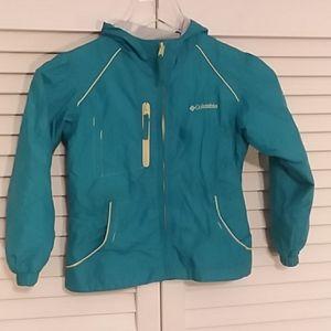 Columbia Girls Blue Full zip Windbreaker Jacket